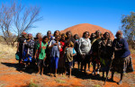 Mutitjulu women and children in their communiity. Uluru, central Australia.