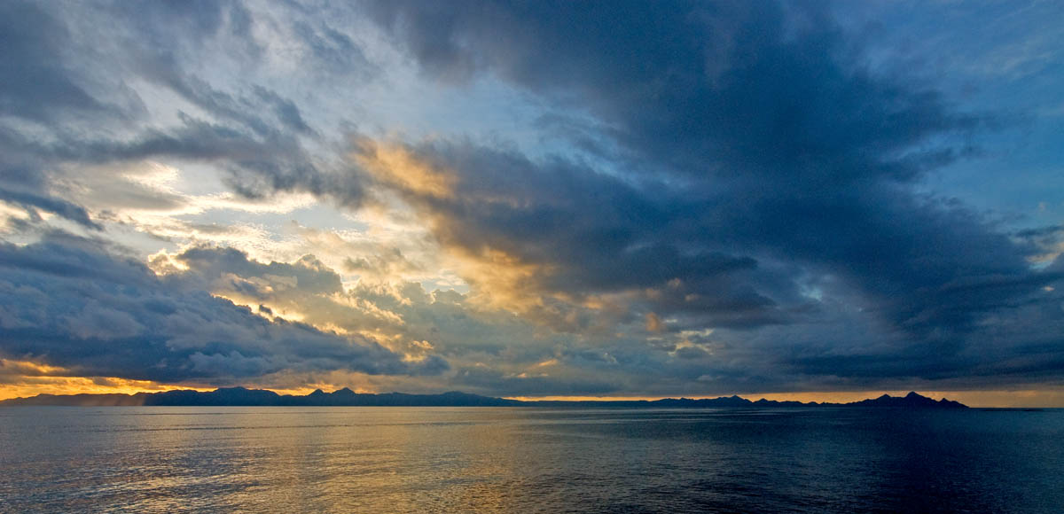 Storm clouds over the Sea of Cortez