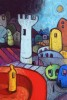 (available as Giclee print)won 2nd place in 2010 Festival of Pocket Art, Mostar Croatia