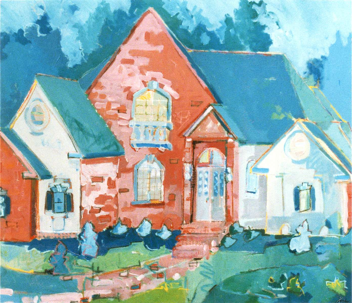 This painting was created and orginally hung in a Southern Living Showcase home in New Bern, NC. The work also was used in a couple of home brochures.