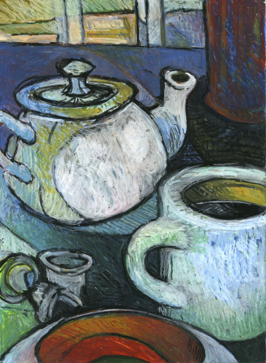 tea pot and mug