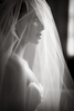 This is a Black and White Fine Art bridal potrait at The Four Seasons Hotel Chicago. Chicago Luxury Wedding Photography. Black and White wedding Photography.