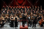 The Syrian national symphony and chorus group performs Stabat Mater by Dvorak at The Home of Al Assad Culture and Arts.