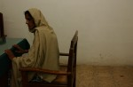 Mukhtar Mai gives her official statement at the Jatoi police station.