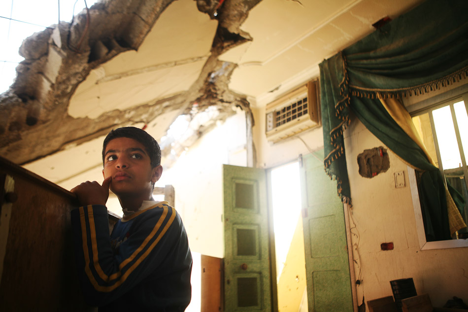 Nearly one year later many of the residents of Naher al Bared had returned to their homes, but were living amidst the rubble without electricity and running water.