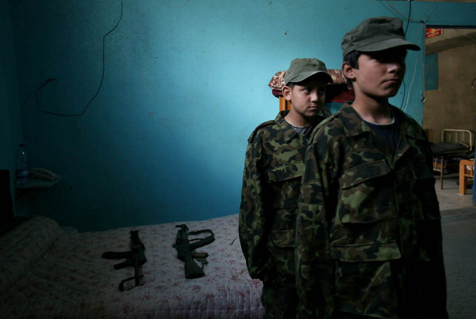 Ein el-Hilweh is the largest and most heavily populated Palestine refugee camp in Lebanon. It is known for being the most militant too because there are regular clashes between Palestinian factions. Children under Fatah's command receive military training.