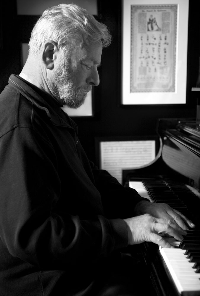 Stephen Sondheim at home, Nyc
