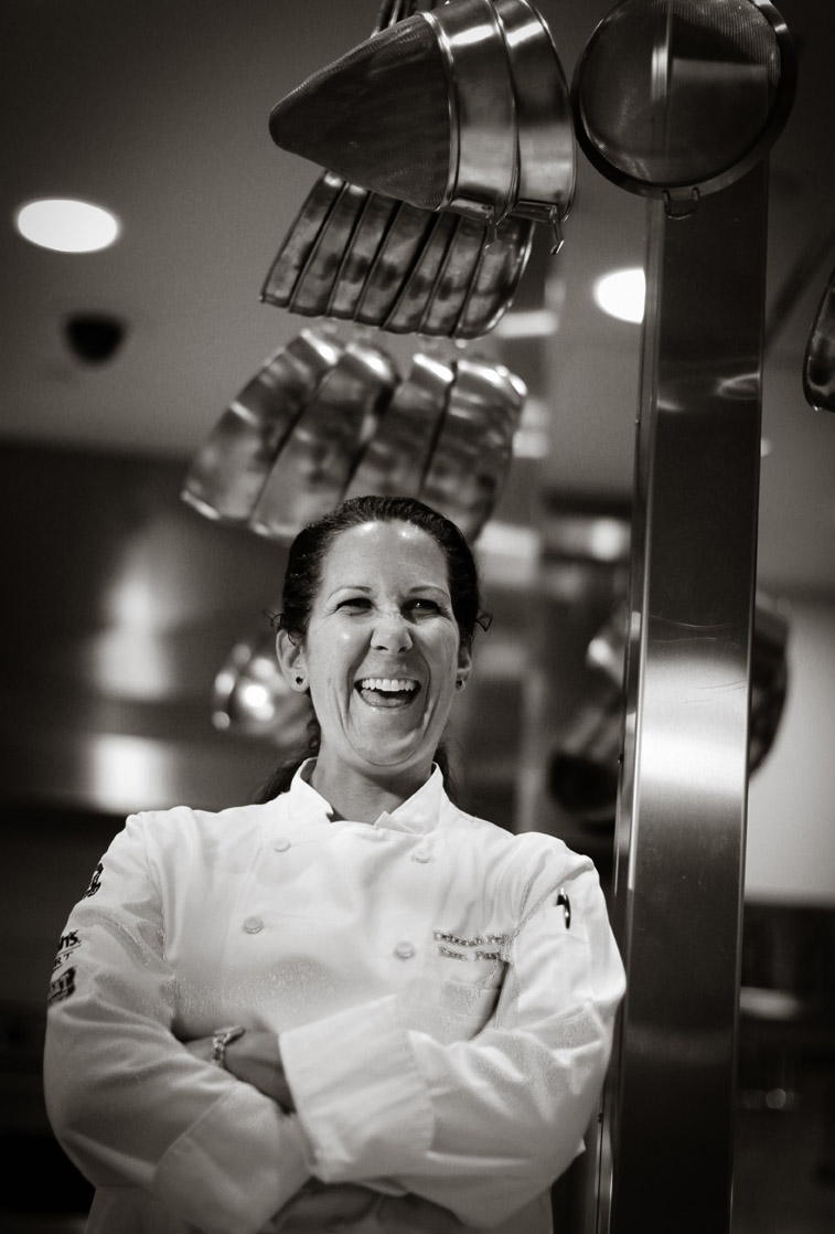 Portrait of Deborah Pellegrino, executive pastry chef at Showboat and Harrah's in Atlantic City.