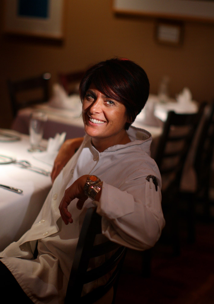 Portrait of Chef Ariane Duarte inside her Montclair restaurant.