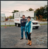 Joe and Ann Marie Vadney, Selkirk, NY. October 13th 2016.  Sign built in September 2016. Old U-Haul van and vinyl. Had two campaign issued signs stolen before using the van.