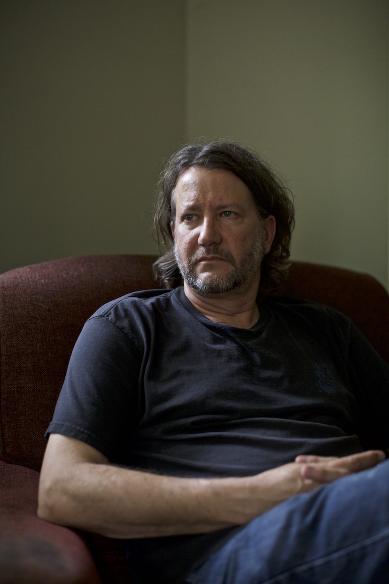 New Paltz, New York USA. August 6th 2017. Chris Arnade, at his home in New Paltz, NY.Mr Arnade is an ex Wall Street exectuive and now photographer and author focusing on America''s disaffected poor and addicted.