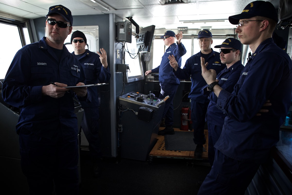 Crew of US Coast Guard ice breaker, Thunder Bay, for The Wall Street Journal