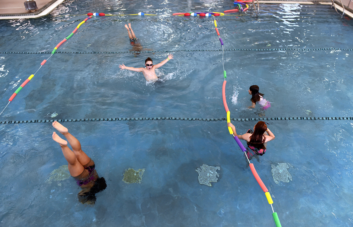 Camp Wheeler has created a one-camper-per-section grid at Wheeler Regional Family YMCA in Plainville.