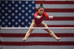 Alexandra Raisman competes on the uneven bars in the Secret US Classic at XL Center.