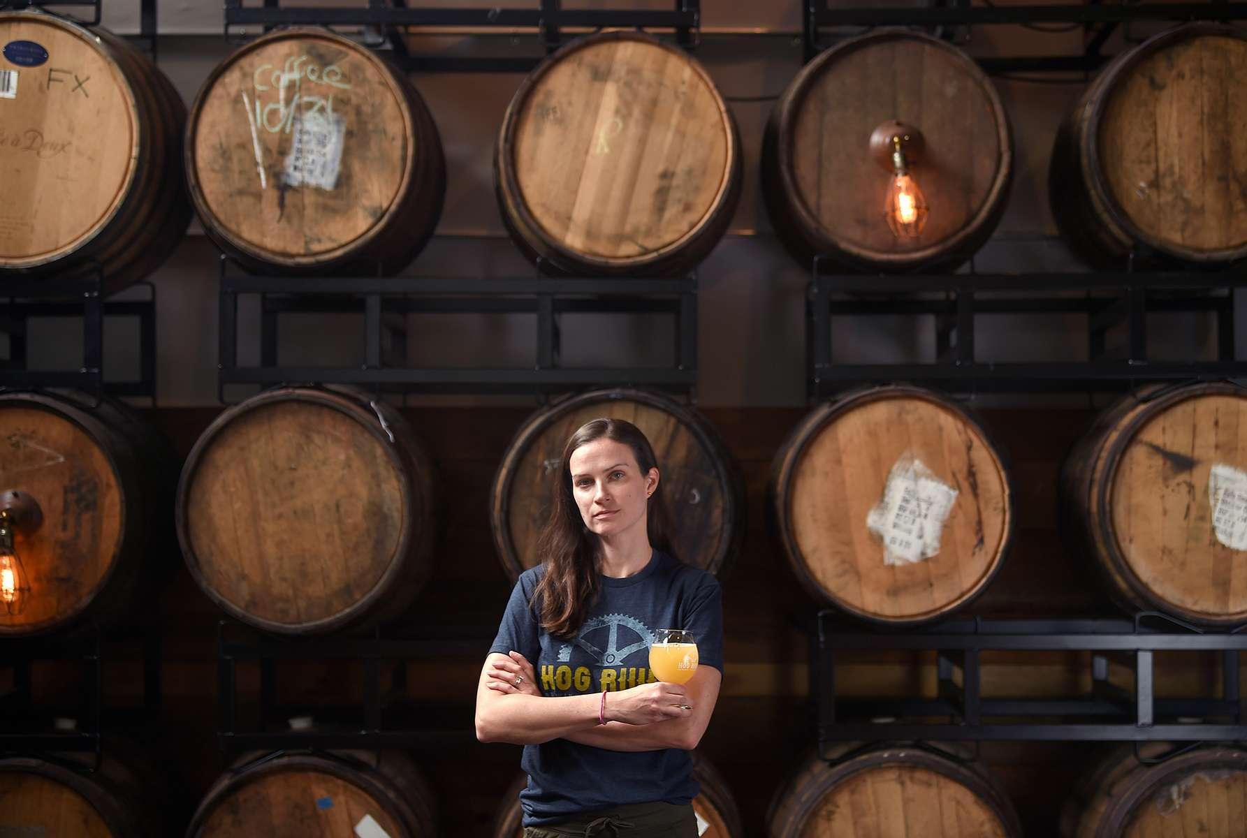 Hartford, CT - 5/28/21 - Joy Braddock is co-owner of Hog River Brewing Co. Photo by Brad Horrigan   bhorrigan@courant.com