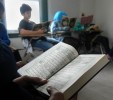 Quranic memorization is part of the student curriculum at New Haven Islamic Center's Quran studies on Sundays.