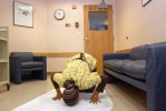 Yale-New Haven Hospital personal care assistant Rajeeyah Haneef prays in a lounge on her break.