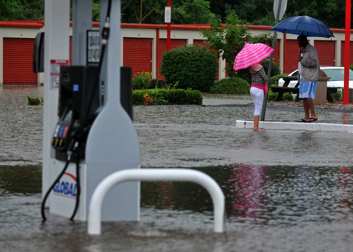 Flooding in Norwich, CT.
