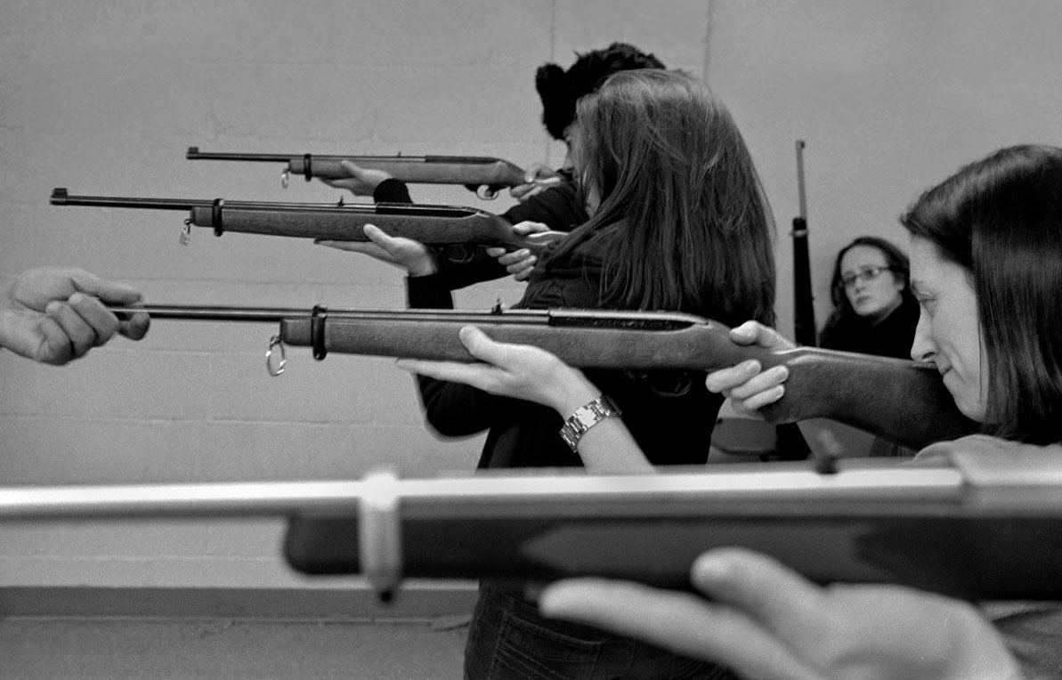 Women learn to shoot rifles at Westside Rifle & Pistol Range.  Westside is the last shooting range remaining in Manhattan.