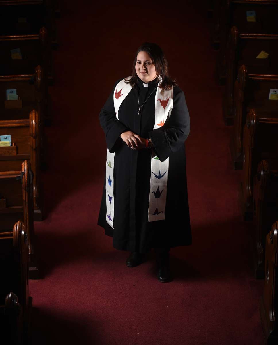 South Congregational Church's Rev. Thea Leticia Racelis.
