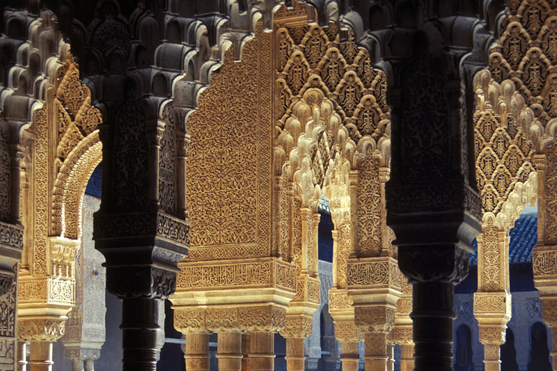 Moorish motifs. The Alhambra. Granada, Spain.