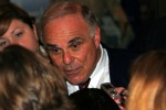 Pennsylvania Governor Ed Rendell answers reporters questions after announcing his candidacy for a second term.