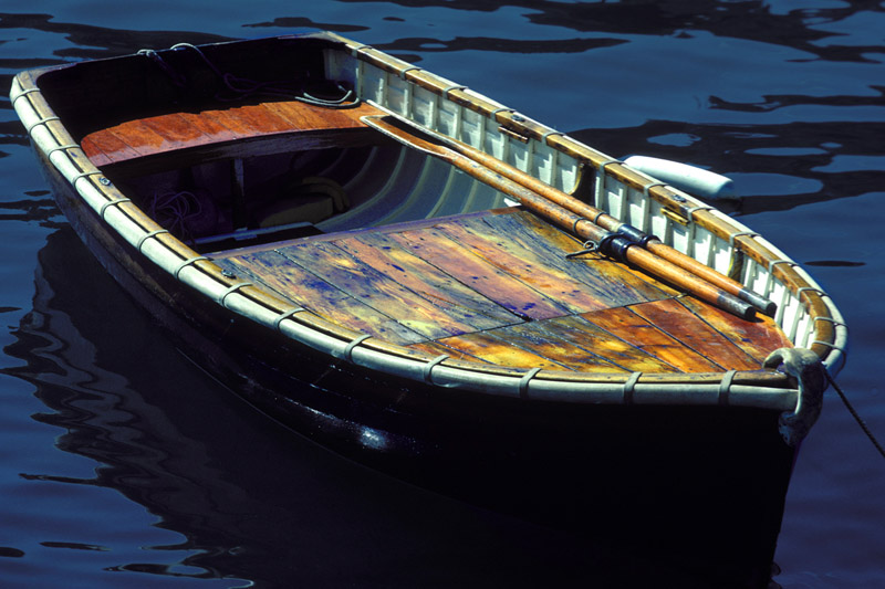 Portofino rowboat. Surrounded by million dollar yachts, this rowboat made a simple statement.