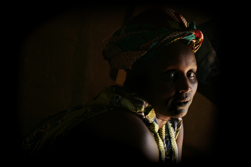 Fulani woman at home in her village on the outskirts of Linguere.