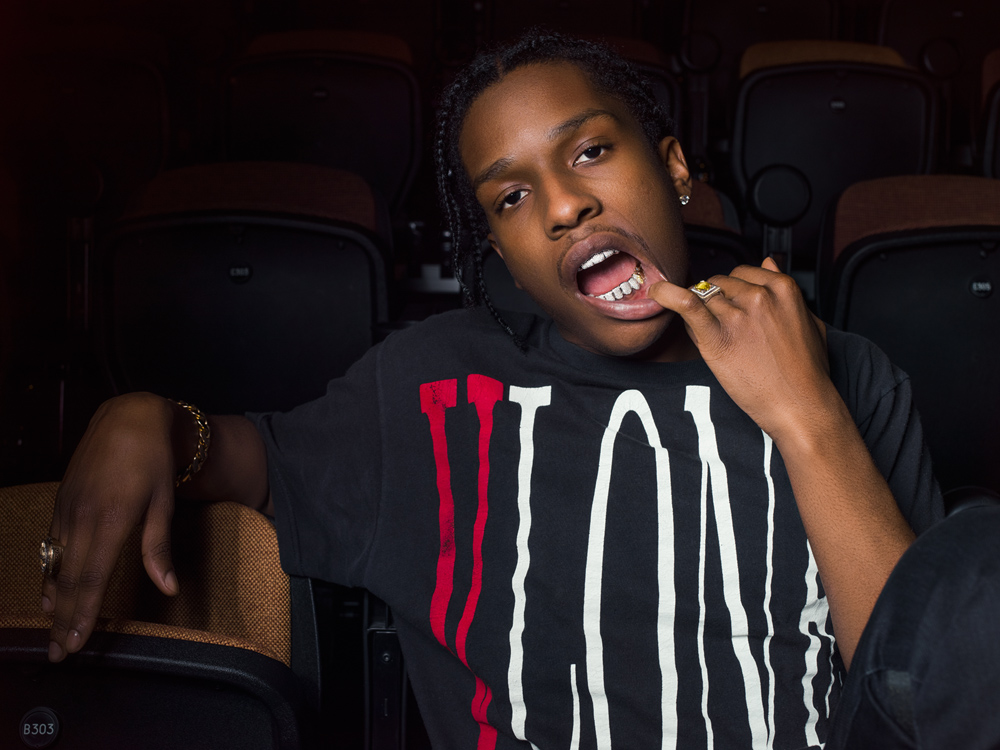 A$AP Rocky poses for a portrait before his talk, part of the Red Bull Music Academy Festival, held at Madiba on 07 May, 2015.