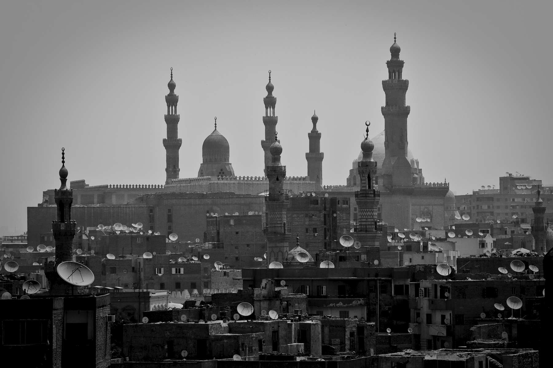 Dishes and domes. In the middle of a modern city of more than 20 million lies much of the original medieval city of Cairo. This area holds the largest concentration of classical Islamic architecture in the world and is a UNESCO World Heritage Site.