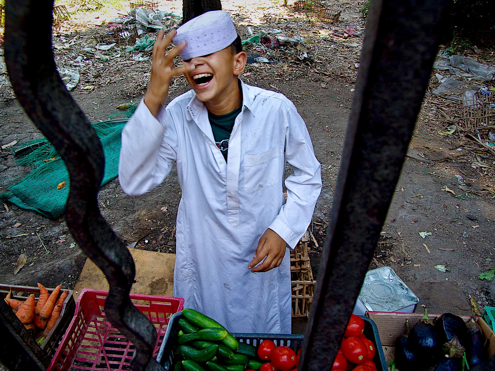 Vegetable vendor. Cairo.