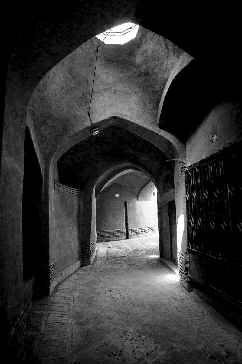 A covered street in the old city of Yazd.