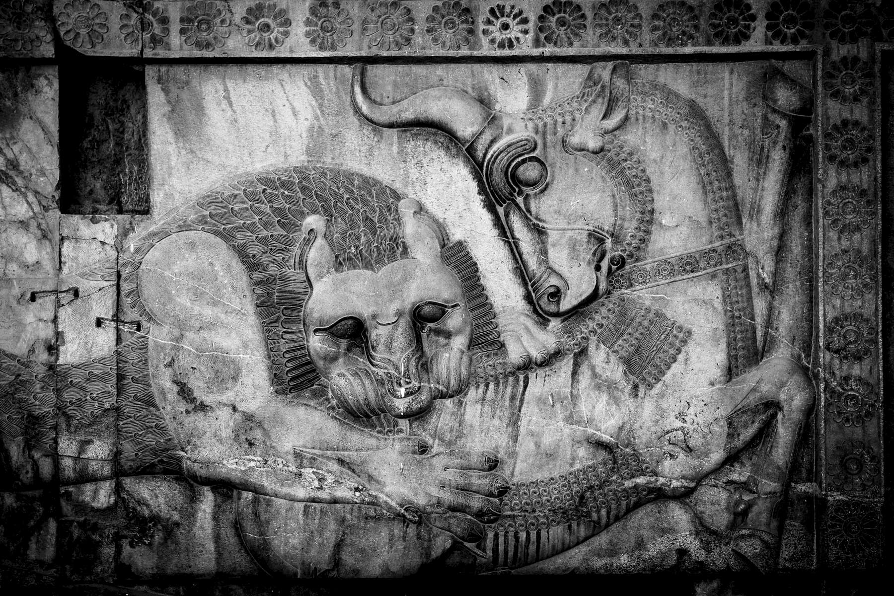 Bas-relief on the walls of Persepolis.