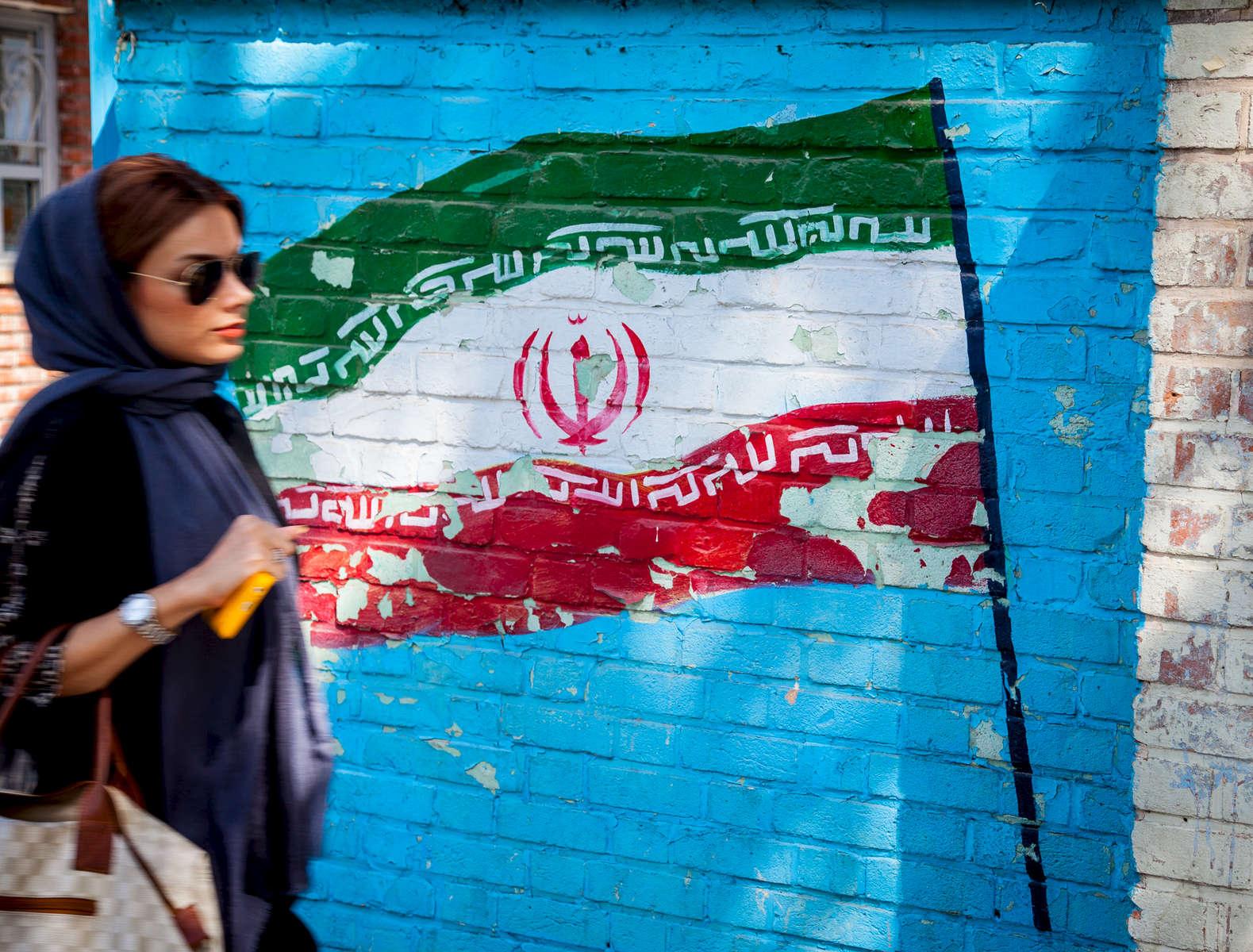 Passing the old U.S. Embassy. Tehran.
