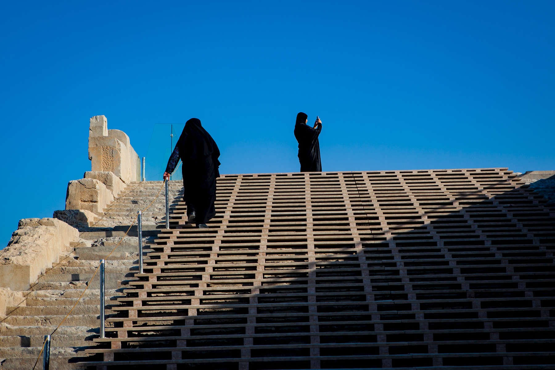 Ascending the Grand Stairway at Persepolis.