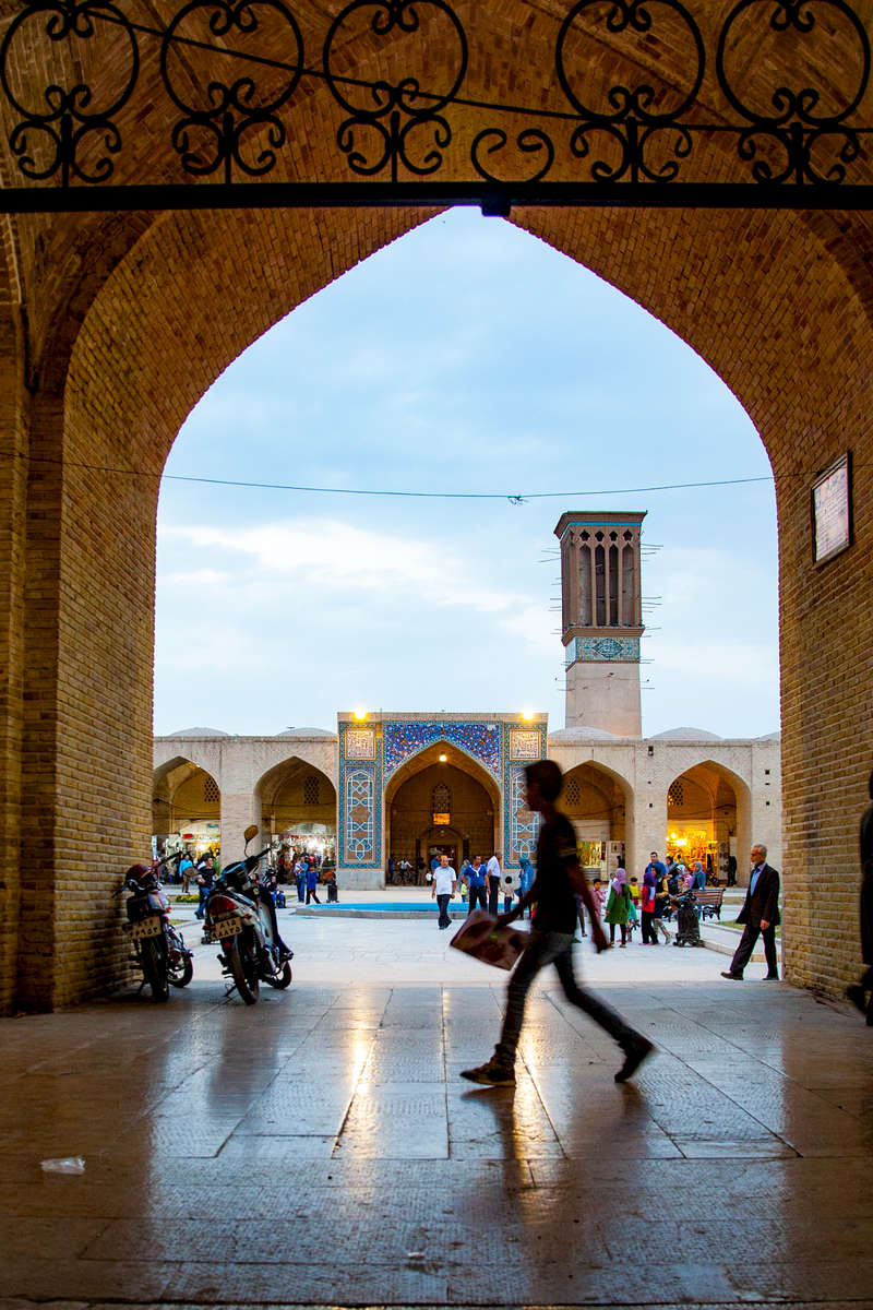 The Kerman Bazaar at dusk.