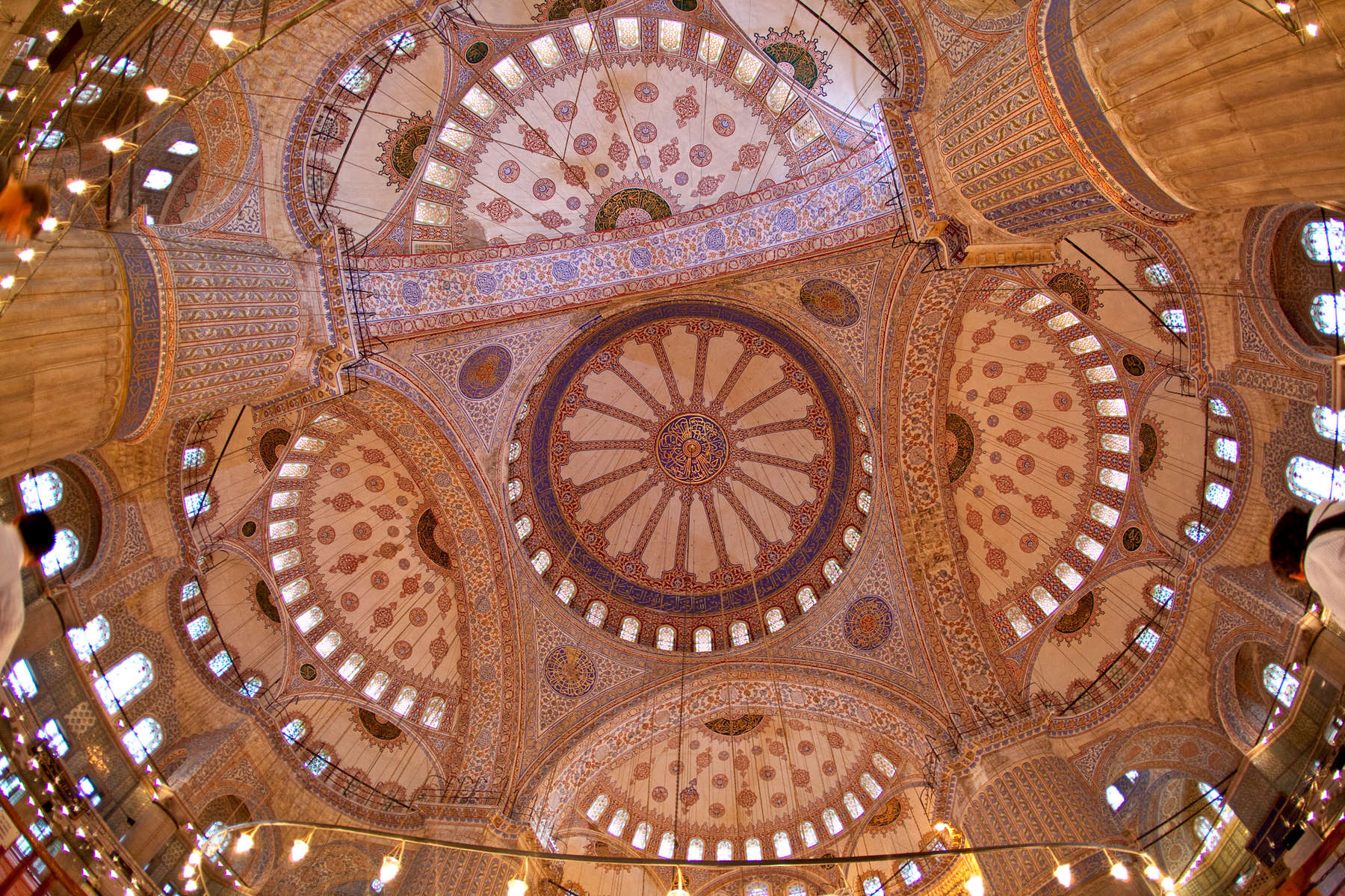 Interior of the 16th century Blue Mosque.