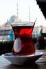 Tea on the Galata Bridge.
