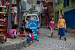 Children playing in the streets of Kumkapı, a working-class neighborhood on Istanbul's European side.