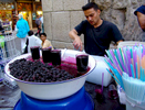 Blackberry juice vendor near the Umayyad Mosque.