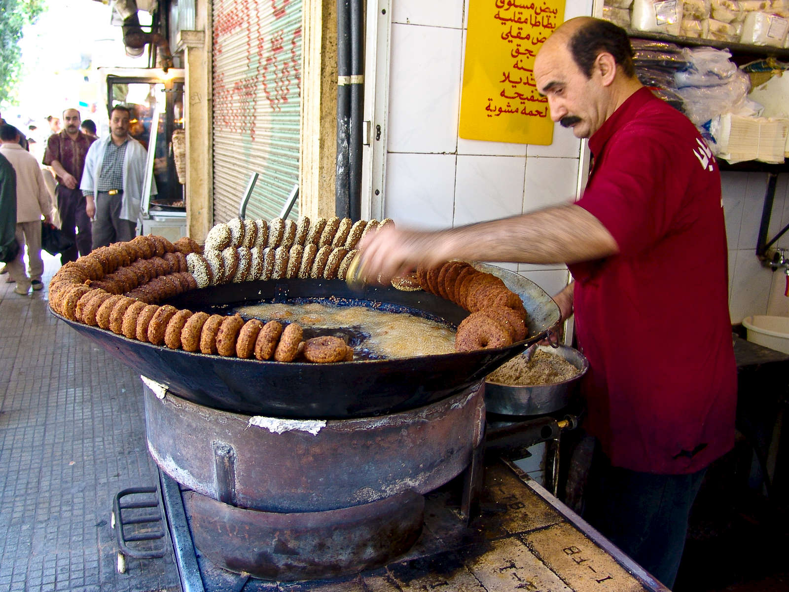 Making felafel in Hama.