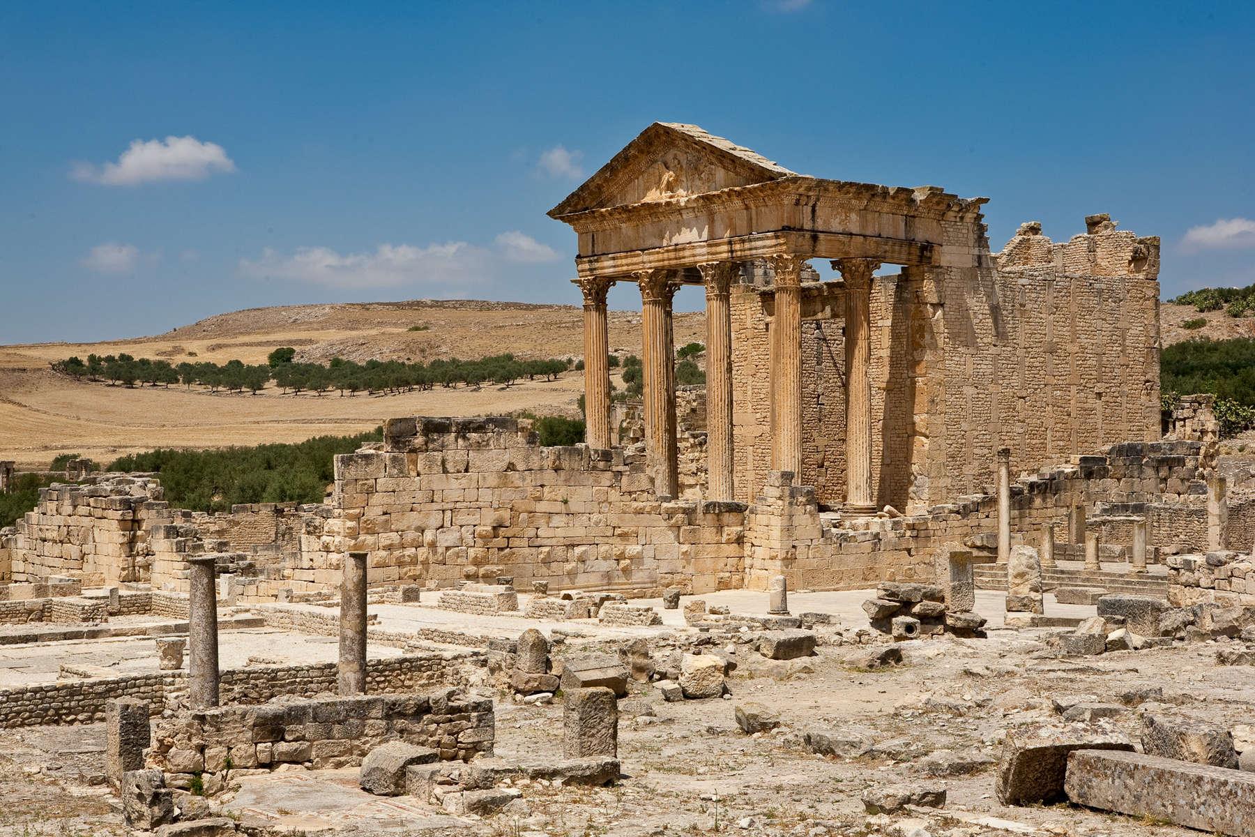 Roman ruins at Dougga.