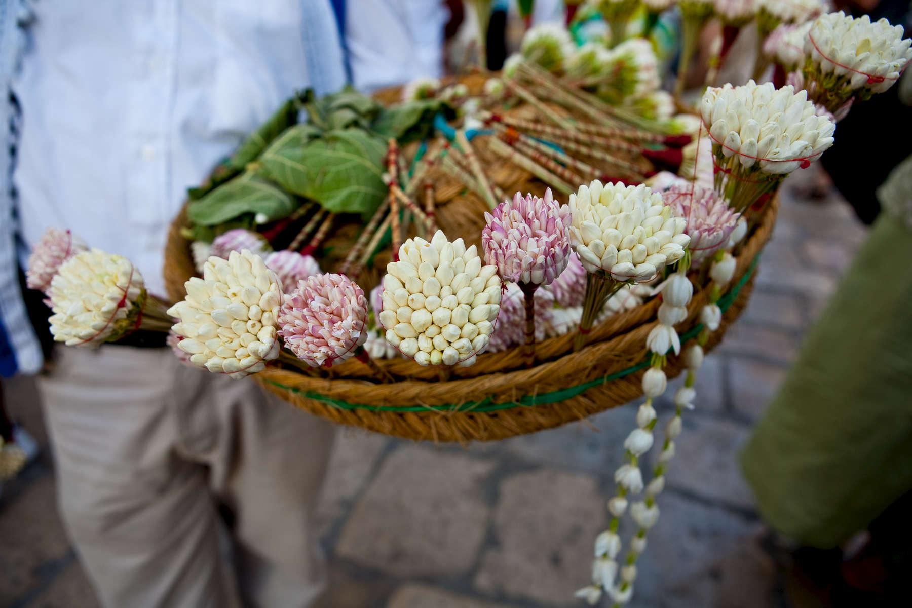 Jasmine bouquets.  Sidi Bou Said.