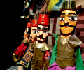 Ottoman-style puppets for sale in Tunis.