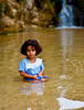 Oasis angel at the waterfalls and pools of Tamerza.