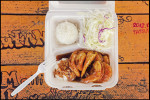 A garlic shrimp plate lunch from a food truck in Haleiwa on theNorth Shore of Oahu.