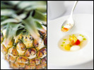A fresh Hawaiian pineapple for the Four Seasons Maui.  A signature dish by Chef Vikram Garg at the Halekulani Hotel.