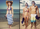 On the Beach series.  Australian tourist.  Couple snorkeling in Waikiki.  Personal project.