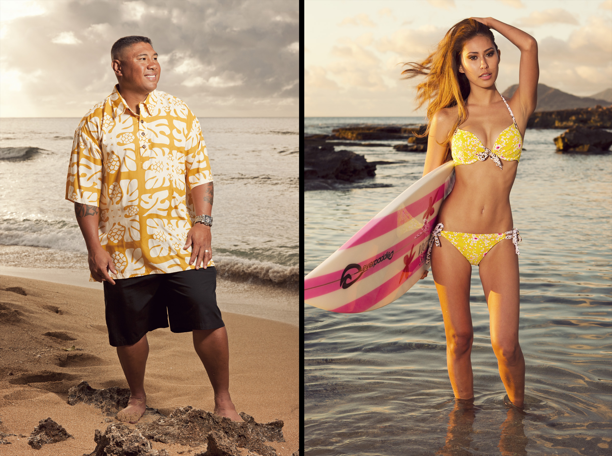 Ex professional baseball player Bennie Agbayani for Major League Baseball.  Model Daniella Abe for Hawaii Five 0.