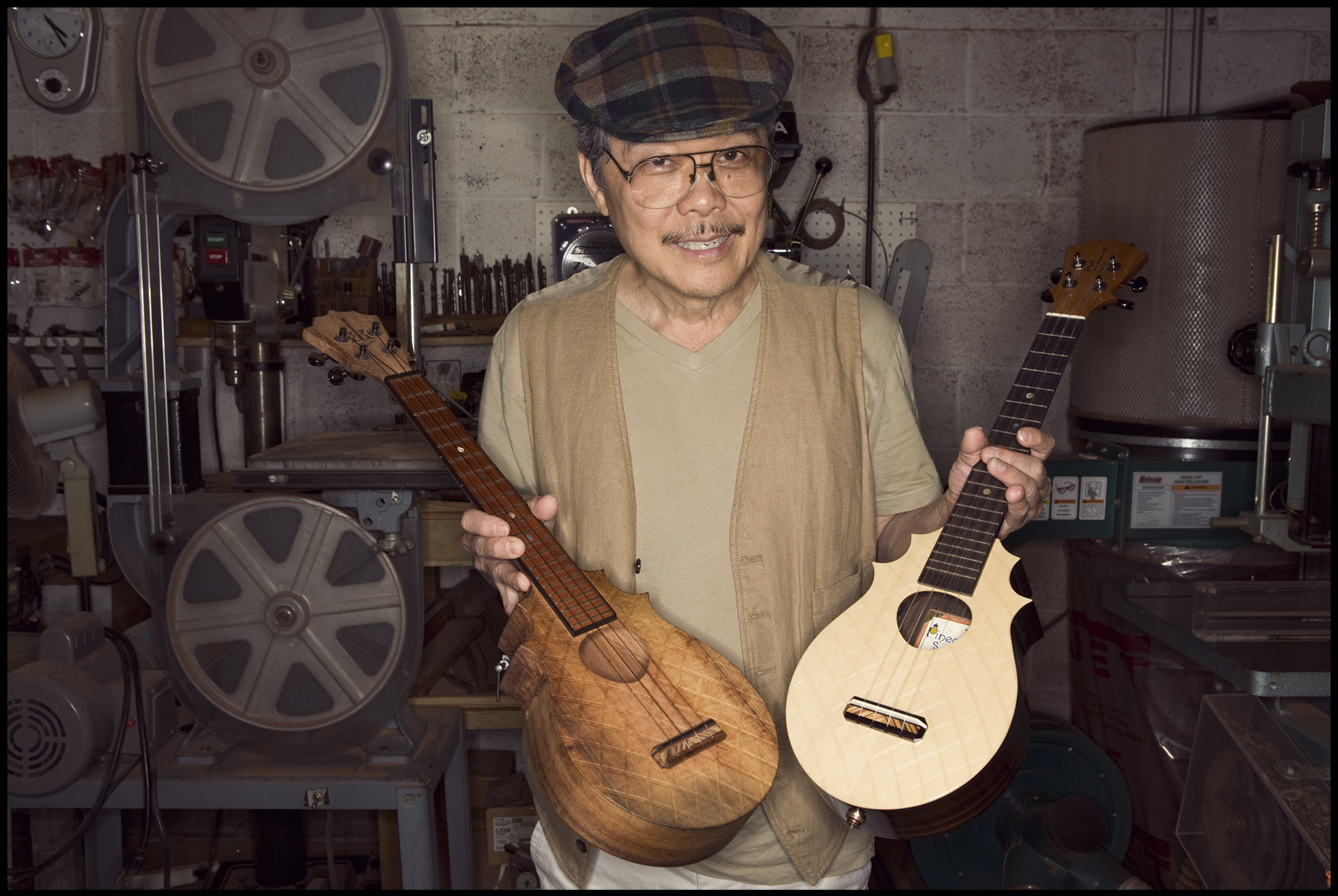 Alvin Okami, owner of KoAloha Ukuleles in Honolulu.